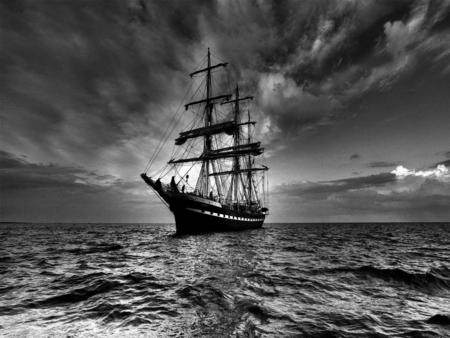 ship, sail, storm, sea, hope, change, perspective, stress, anxiety, meditate