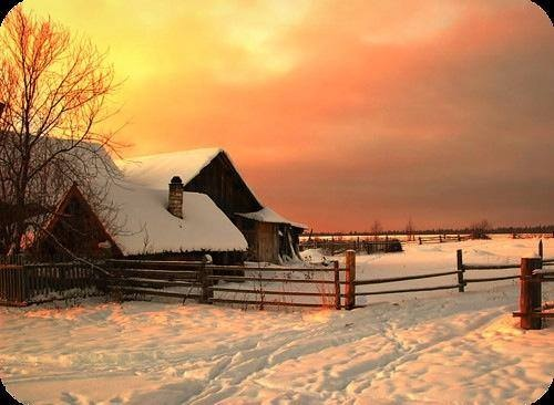 winter, snow, farm, peace, perspective, joy, life, serenity