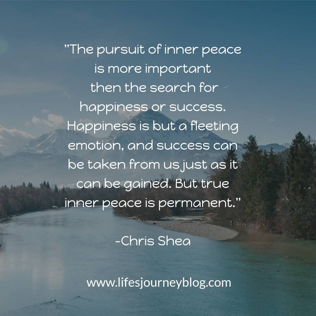 pursuit of inner peace